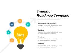 Training Roadmap Template Ppt PowerPoint Presentation Inspiration Smartart Cpb