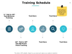 Training Schedule Gears Ppt PowerPoint Presentation Infographic Template Graphics