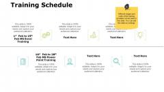 Training Schedule Slide Analysis Ppt PowerPoint Presentation Ideas Graphics Tutorials