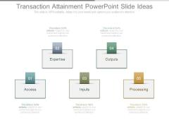Transaction Attainment Powerpoint Slide Ideas