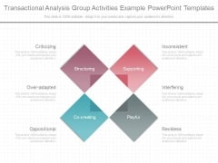 Transactional Analysis Group Activities Example Powerpoint Templates