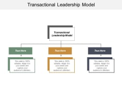 Transactional Leadership Model Ppt PowerPoint Presentation Styles Themes Cpb
