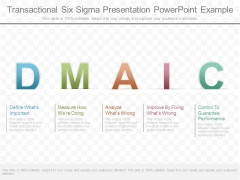 Transactional Six Sigma Presentation Powerpoint Example