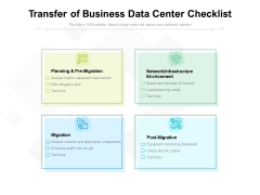 Transfer Of Business Data Center Checklist Ppt PowerPoint Presentation File Aids PDF