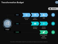 Transformation Budget Ppt PowerPoint Presentation Slides Visuals