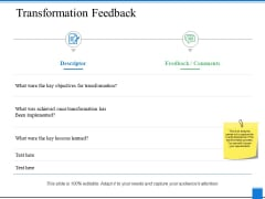 Transformation Feedback Ppt PowerPoint Presentation Pictures Objects