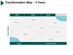 Transformation Map 3 Years Ppt PowerPoint Presentation Infographic Template Aids