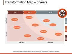 Transformation Map 3 Years Ppt PowerPoint Presentation Professional Samples
