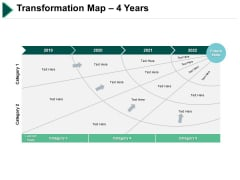 Transformation Map 4 Years Marketing Ppt PowerPoint Presentation Layouts Ideas