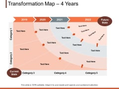 Transformation Map 4 Years Ppt PowerPoint Presentation File Designs Download