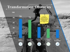 Transformation Obstacles Ppt PowerPoint Presentation Summary Microsoft