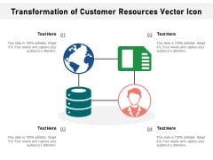 Transformation Of Customer Resources Vector Icon Ppt PowerPoint Presentation Styles Layout PDF