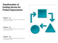 Transformation Of Existing Service For Product Improvement Ppt PowerPoint Presentation Slides Microsoft PDF