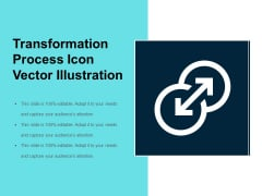 Transformation Process Icon Vector Illustration Ppt PowerPoint Presentation File Backgrounds PDF