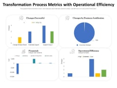 Transformation Process Metrics With Operational Efficiency Ppt PowerPoint Presentation Pictures Graphic Images PDF