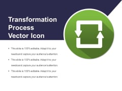Transformation Process Vector Icon Ppt PowerPoint Presentation File Icon PDF