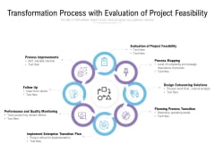 Transformation Process With Evaluation Of Project Feasibility Ppt PowerPoint Presentation Model Maker