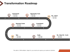 Transformation Roadmap Business Ppt PowerPoint Presentation Show Graphics Design