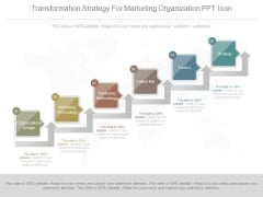 Transformation Strategy For Marketing Organization Ppt Icon