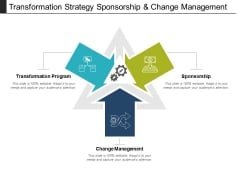 Transformation Strategy Sponsorship And Change Management Ppt PowerPoint Presentation Icon Layouts