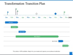 Transformation Transition Plan Ppt PowerPoint Presentation Professional Show