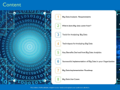 Transforming Big Data Analytics To Knowledge Content Ppt Show Good PDF