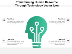Transforming Human Resource Through Technology Vector Icon Ppt PowerPoint Presentation File Professional PDF