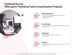 Transforming Marketing Services Through Automation Additional Service Offerings For Marketing Tasks Computerization Proposal Themes PDF