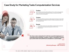 Transforming Marketing Services Through Automation Proposal Case Study For Marketing Tasks Computerization Services Guidelines PDF