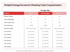 Transforming Marketing Services Through Automation Proposal Multiple Package Services For Marketing Tasks Computerization Topics PDF