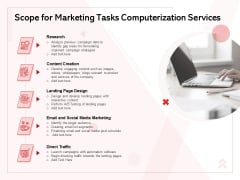 Transforming Marketing Services Through Automation Proposal Scope For Marketing Tasks Computerization Services Microsoft PDF