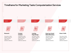 Transforming Marketing Services Through Automation Proposal Timeframe For Marketing Tasks Computerization Services Pictures PDF