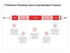 Transforming Marketing Services Through Automation Timeline For Marketing Tasks Computerization Proposal Portrait PDF