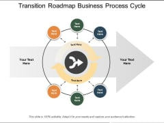 Transition Roadmap Business Process Cycle Ppt PowerPoint Presentation File Shapes PDF