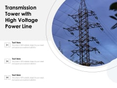Transmission Tower With High Voltage Power Line Ppt PowerPoint Presentation Slides Icons PDF