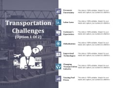 Transportation Challenges Template 1 Ppt PowerPoint Presentation File Templates
