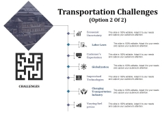 Transportation Challenges Template 2 Ppt PowerPoint Presentation File Diagrams
