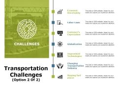 Transportation Challenges Template 2 Ppt PowerPoint Presentation File Slide Download