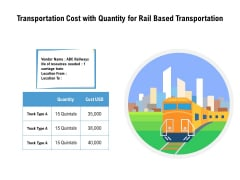 Transportation Cost With Quantity For Rail Based Transportation Ppt PowerPoint Presentation Summary Ideas PDF