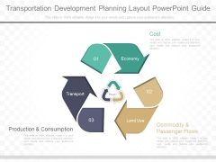 Transportation Development Planning Layout Powerpoint Guide