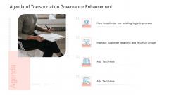Transportation Governance Enhancement Agenda Of Transportation Governance Enhancement Rules PDF