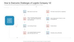 Transportation Governance Enhancement How To Overcome Challenges Of Logistic Company Services Topics PDF
