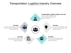 Transportation Logistics Industry Overview Ppt PowerPoint Presentation Outline Clipart Cpb Pdf