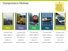 Transportation Medium Ppt PowerPoint Presentation Infographic Template Design Inspiration