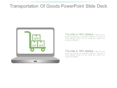 Transportation Of Goods Powerpoint Slide Deck