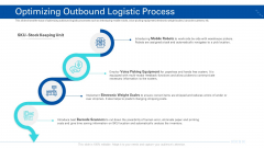 Transporting Company Optimizing Outbound Logistic Process Ppt Icon Summary PDF
