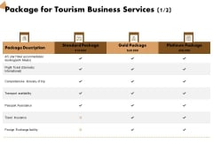 Travel And Leisure Commerce Proposal Package For Tourism Business Services Travel Ppt Slides Gridlines PDF