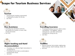 Travel And Leisure Commerce Proposal Scope For Tourism Business Services Ppt Styles Ideas PDF