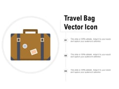 Travel Bag Vector Icon Ppt PowerPoint Presentation Professional Design Templates