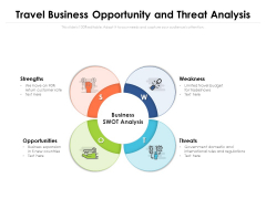 Travel Business Opportunity And Threat Analysis Ppt PowerPoint Presentation Gallery Diagrams PDF